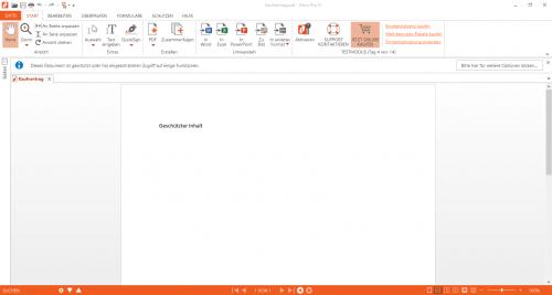 Abbildung 12: Geschütztes PDF-Dokument geöffnet mit dem Nitro Pro Reader