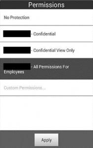 Abbildung 10: Rechtevergabe im Foxit MobilePDF Reader