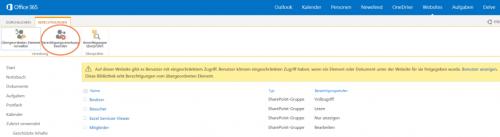 Abbildung 7: Berechtigungsvererbung in einer SharePoint-Dokumentbibliothek beenden