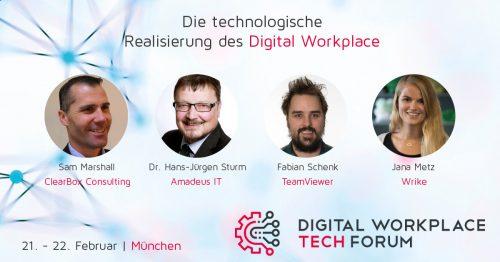 Digital Workplace Tech FORUM am 21. – 22. Februar in München